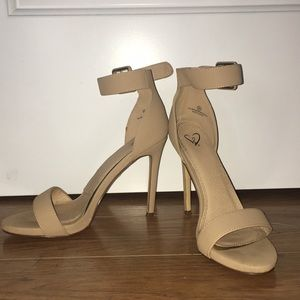 Nude strap heels!